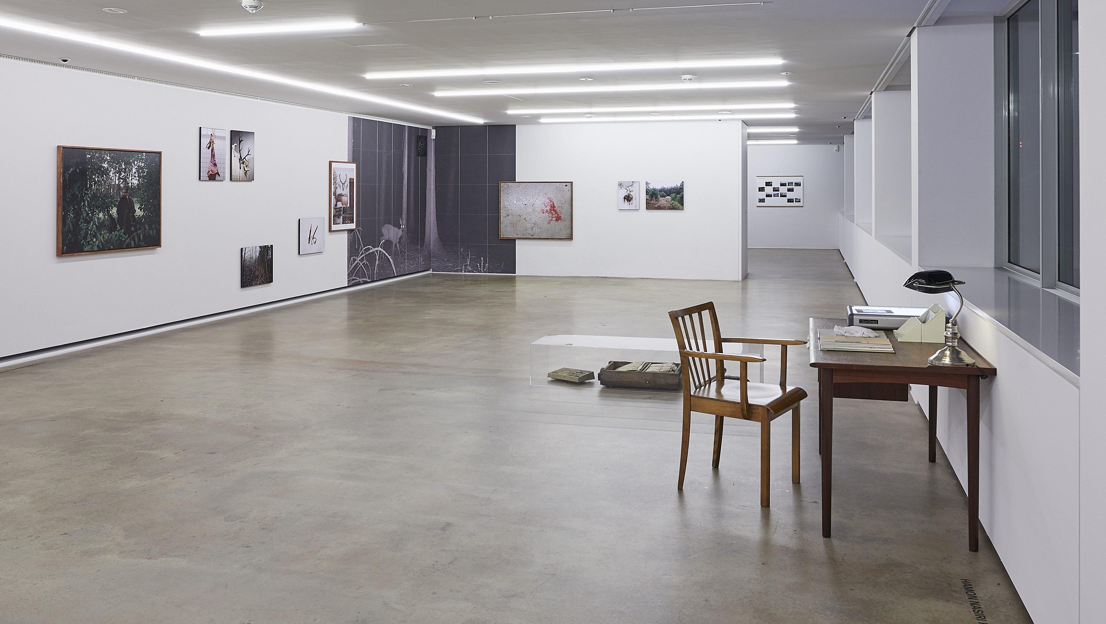 Raumansicht mit Arbeiten von Ann Christine Freuwörth, Annelot Meines und Hamon Nasiri Honarvar